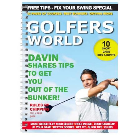 Personalised A5 Notebook - Golfers World